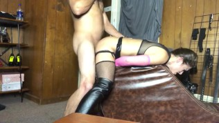 Daddy strapped me to the chaise pt 2, orgasm w/clit toy and anal fuck