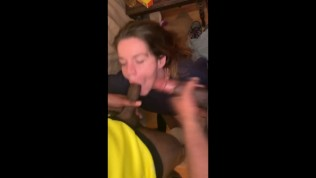 Teen couldn't resist sucking two cocks