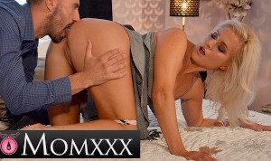 MOM.XXX Internal cumshot for all natural big boobs mature Czech blonde