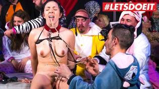 LETSDOEIT – Spanish Brunette Hottie Has Kinky Sex At Pijama Animal Party