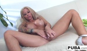 Hot Helly Hellfire plays with herself!
