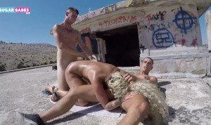 SUGARBABESTV: Greek Public sex for money !