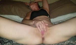 Horny amateur pleasuring herself till she orgasms