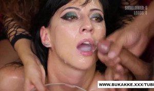 Sherry swallows massive loads of cum trailer for gangbang – Bukkake.xxx