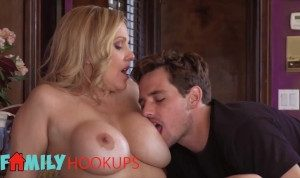 FamilyHookups – Horny Mom Julia Ann Sucks Her Stepson's Cock & Rides Him Until He Jizz On Her Lips