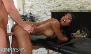 Kinky Spa – Big tit Native ebony Nia Nacci gets massage and pounding