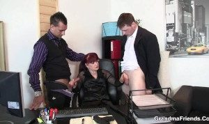 Office Horny Mature Double Penetration