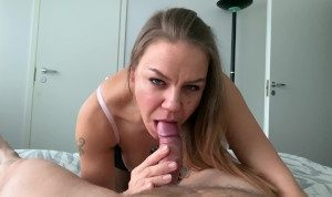 4K POV horny blowjob with dirty cumplay -Jan Hammer