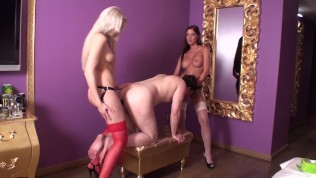 goddess perfecta + princess crystal fuck their slave in ass