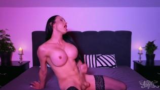 TransAngel – Smoking Shemale Kimberlee Jerking Off In Her Bedroom