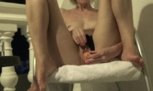 I play with my pussy and piss in his mouth …