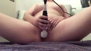 Squirting with my favorite toy and having boob orgasms