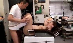 bigboobs barber's hostess