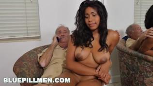 BLUE PILL MEN – Old Men Fuck Jenna J. Foxx's Fine Black Ass