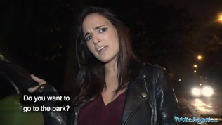 Public Agent Spanish hotty pussy pounded by a stranger