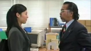 Sora Aoi Kissing his Ugly Old Boss